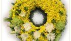พวงหรีดดอกไม้สด พวงมาลา 2