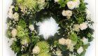 พวงหรีดดอกไม้สด พวงมาลา 4