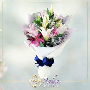 ช่อดอกไม้ พลอยเพชรรัตน์ 1 ดอกไม้สด ดอกไม้ จัดช่อดอกไม้ ส่งช่อดอกไม้ ดอกกุหลาบ ดอกลิลลี่ ดอกไฮเดรนเยีย ดอกคาร์เนชั่น