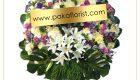 พวงหรีดดอกไม้สด พวงอัปสร 7