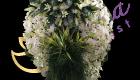 พวงหรีดดอกไม้สด พวงอัปสร 10